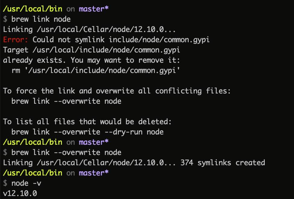 修正 npm 錯誤